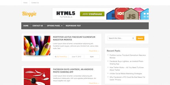 Bloggie - Free Standard WordPress Blog Theme @ MyThemeShop