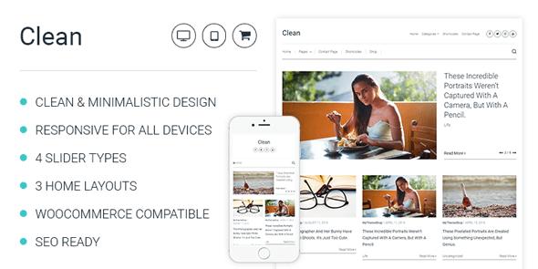 Clean - Minimal WordPress Blog Theme @ MyThemeShop