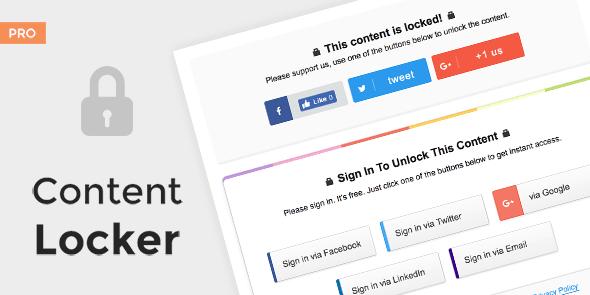 Content Locker Pro - Premium WordPress Plugin