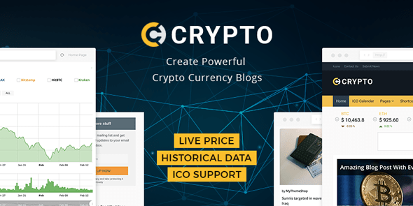 Crypto - A Bitcoin & Cryptocurrency WordPress Theme