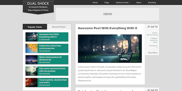 Dualshock Free Wordpress Blogging Theme Mythemeshop
