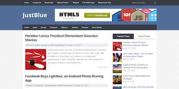JustBlue - Free Premium Responsive WordPress Theme @ MyThemeShop