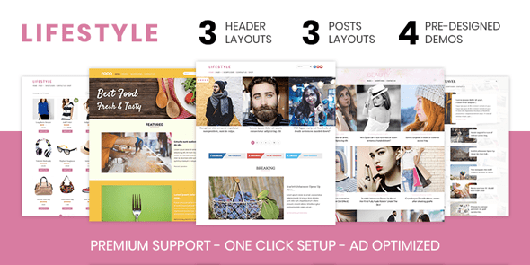 Lifestyle – Elegant WordPress Theme