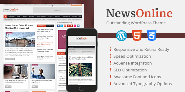 NewsOnline - Outstanding WordPress Theme