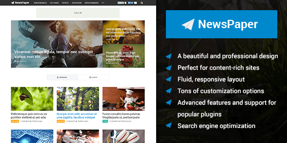 Buy Newspaper premium theme