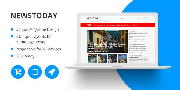 NewsToday - Best News Magazine WordPress Theme By MyThemeShop