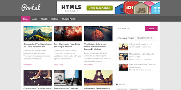 Portal - Free Magazine WordPress Theme @ MyThemeShop