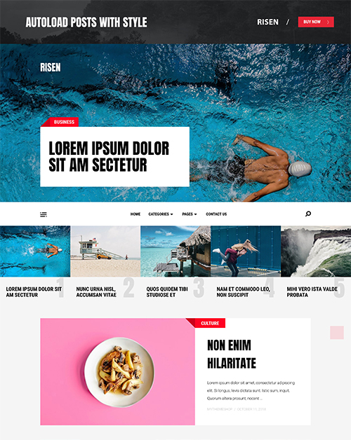RISEN - ELEGANT WORDPRESS THEME