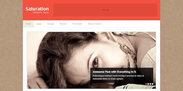 DOWNLOAD - Saturation Bright, Crisp, Blog-Style WordPress Theme