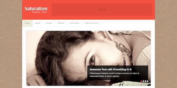 saturation wordpress theme- themophiles