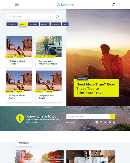 Seekers - Attractive WordPress Theme