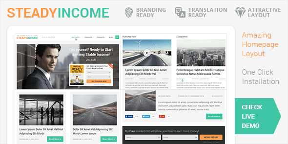 SteadyIncome – Personal WordPress Blog Theme @ MyThemeShop