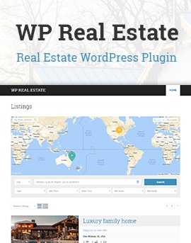 WP Real Estate – Free WordPress Plugin For Realtors