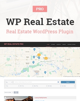 WP Real Estate Pro – Real Estate Plugin for WordPress