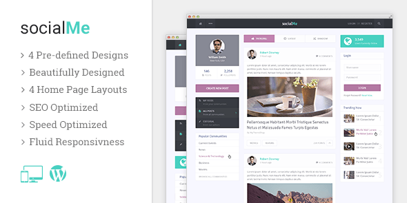 socialMe - Personal WordPress Blog Theme @ MyThemeShop