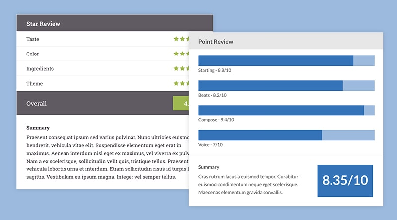 WP Review Compatible