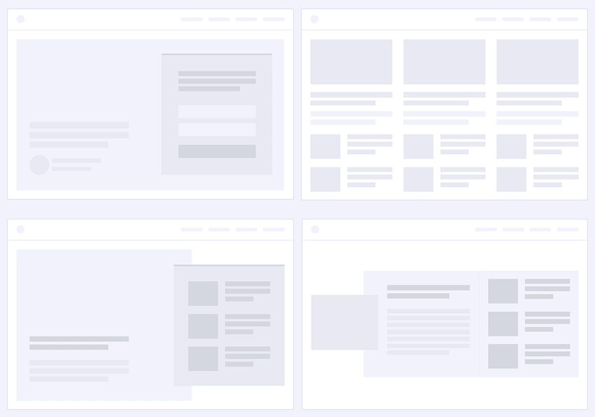 8 Pre-Defined Homepage Sections