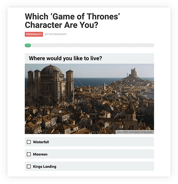 Personality Quiz Type