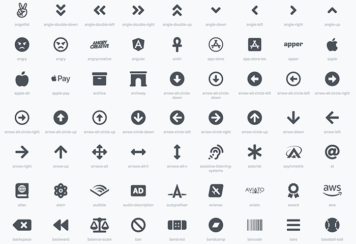 FontAwesome Icons Included