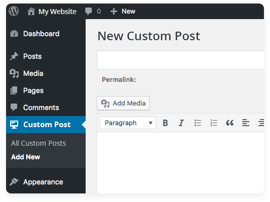 Custom Post Type Support