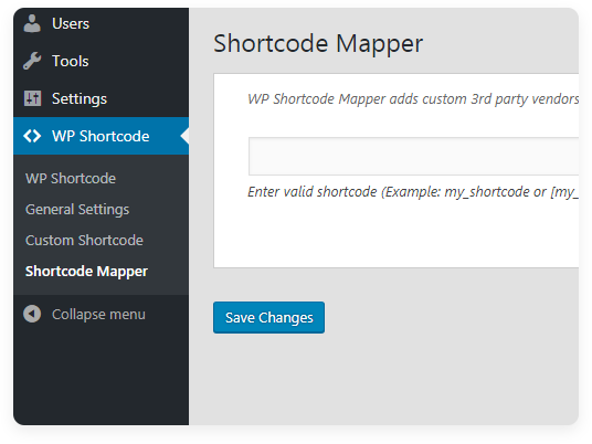 Shortcode Mapper