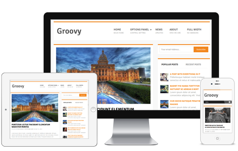 Groovy – Free Responsive WordPress Blog Theme  Free Download