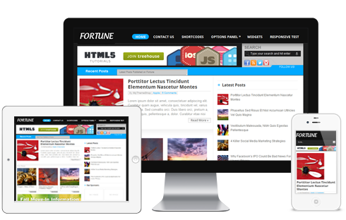 Fortune: Adsense Ready WordPress Theme  Free Download