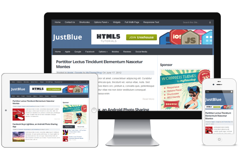 JustBlue – Free Premium Responsive WordPress Theme Free Download