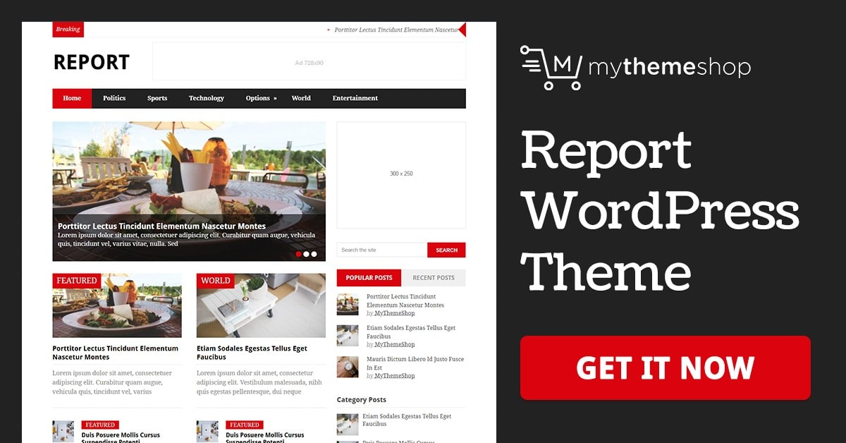 Report - News Magazine WordPress Theme @ MyThemeShop