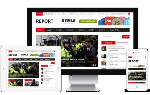 Report – News Magazine WordPress Theme  Free Download