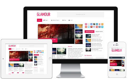 Glamour - Fashion Magazine WordPress Theme @ MyThemeShop