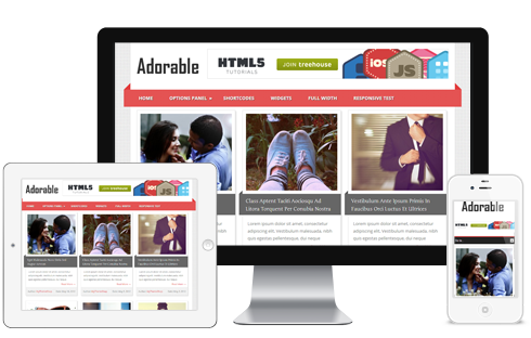 Adorable – Responsive Blog WordPress Theme  Free Download