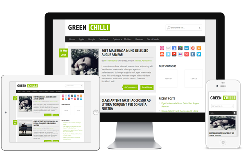 GreenChili – Free WordPress Theme For Bloggers  Free Download