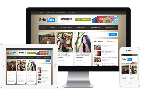 GridBox – Beautiful Responsive WordPress Theme  Free Download