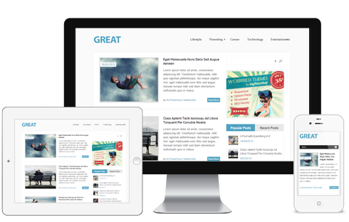 Great – Free Responsive Magazine WordPress Theme  Free Download