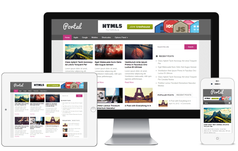 Portal – Free Magazine WordPress Theme  Free Download