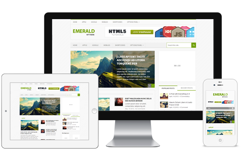 Emerald – Magazine WordPress Theme For Bloggers  Free Download