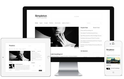Simpleton – Clean & Minimal WordPress Theme  Free Download
