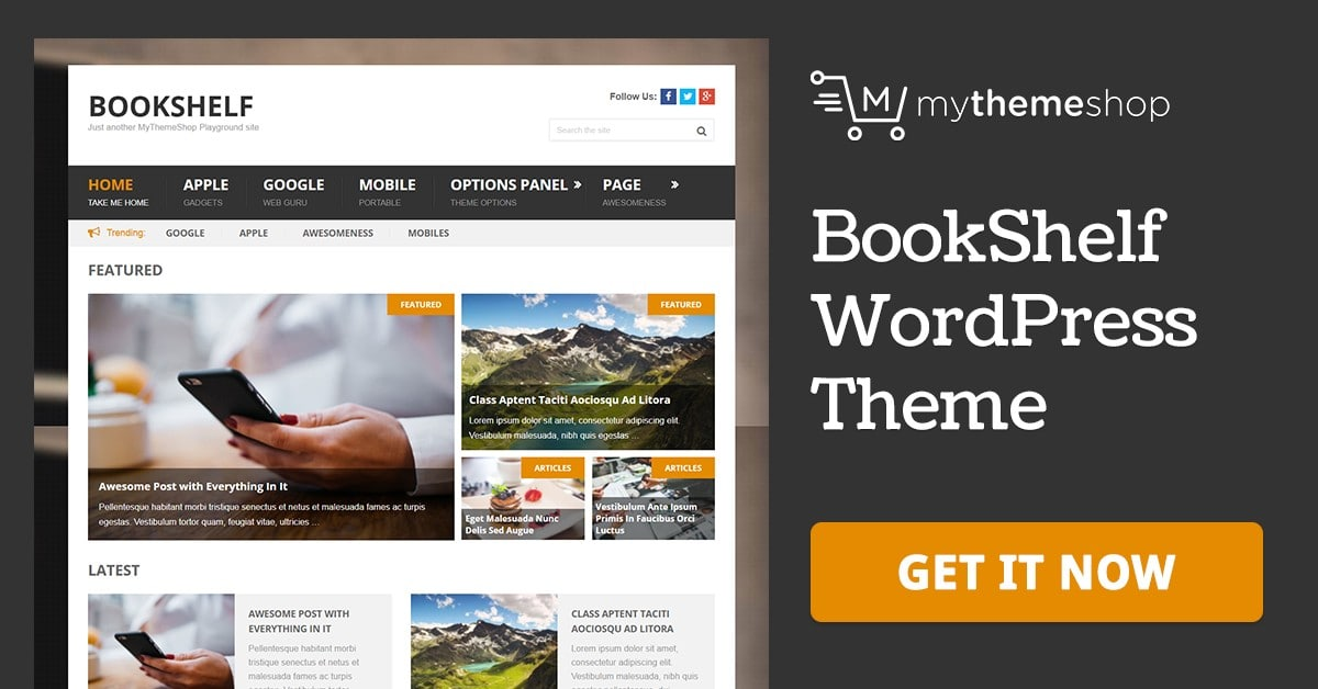 BookShelf - WordPress Blog Theme @ MyThemeShop