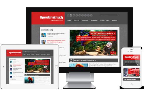 ThunderStruck – Impressive WordPress Responsive & HTML5 Theme  Free Download