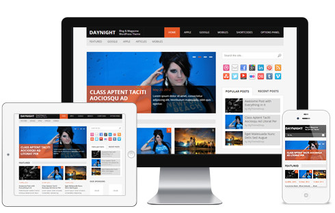 DayNight – Responsive WordPress Blog Theme  Free Download