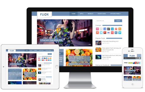 Flick – Media-oriented Responsive WordPress Theme  Free Download