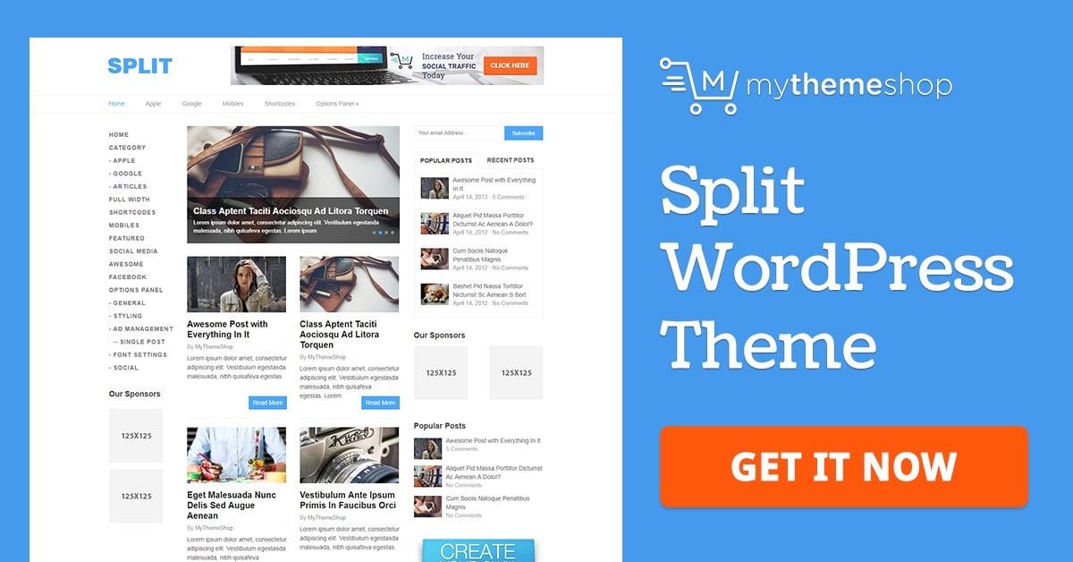 Split - Minimal & Responsive WordPress Theme @ MyThemeShop