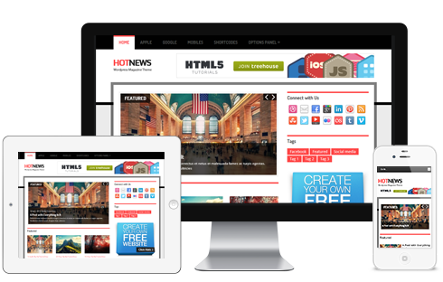 HotNews – News Magazine Responsive WordPress Theme  Free Download