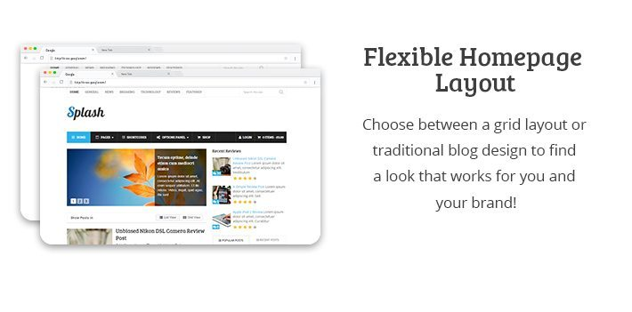 Flexible Homepage