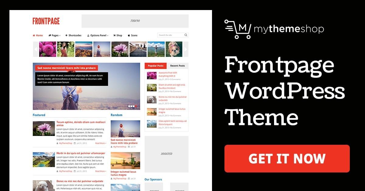 FrontPage - News Magazine WordPress Theme @ MyThemeShop