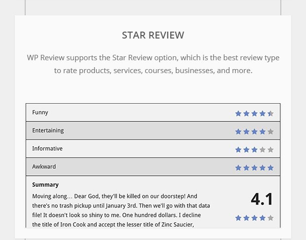 Star Review