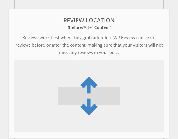 Review Location - Before and After Content