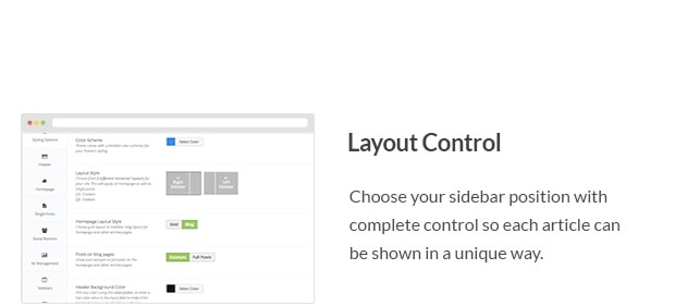 Choose your sidebar position with complete control so each article can be shown in a unique way.