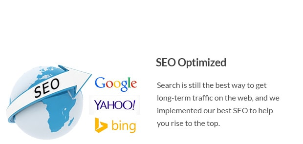 Search is still the best way to get long-term traffic on the web, and we implemented our best SEO to help you rise to the top.